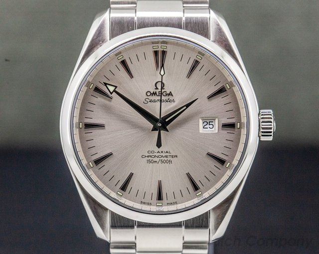 Omega 2502.30 Aqua Terra Co-Axial Large Silver Dial SS/SS 42MM