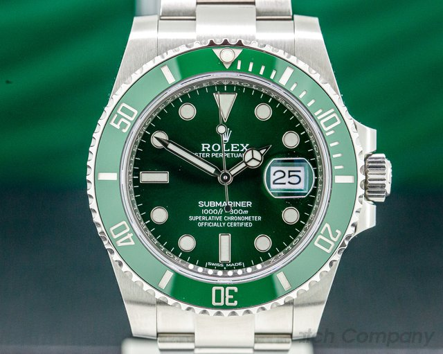 "Rolex 116610LV Submariner Green Ceramic Bezel Green Dial ""Hulk"" SS UNWORN"