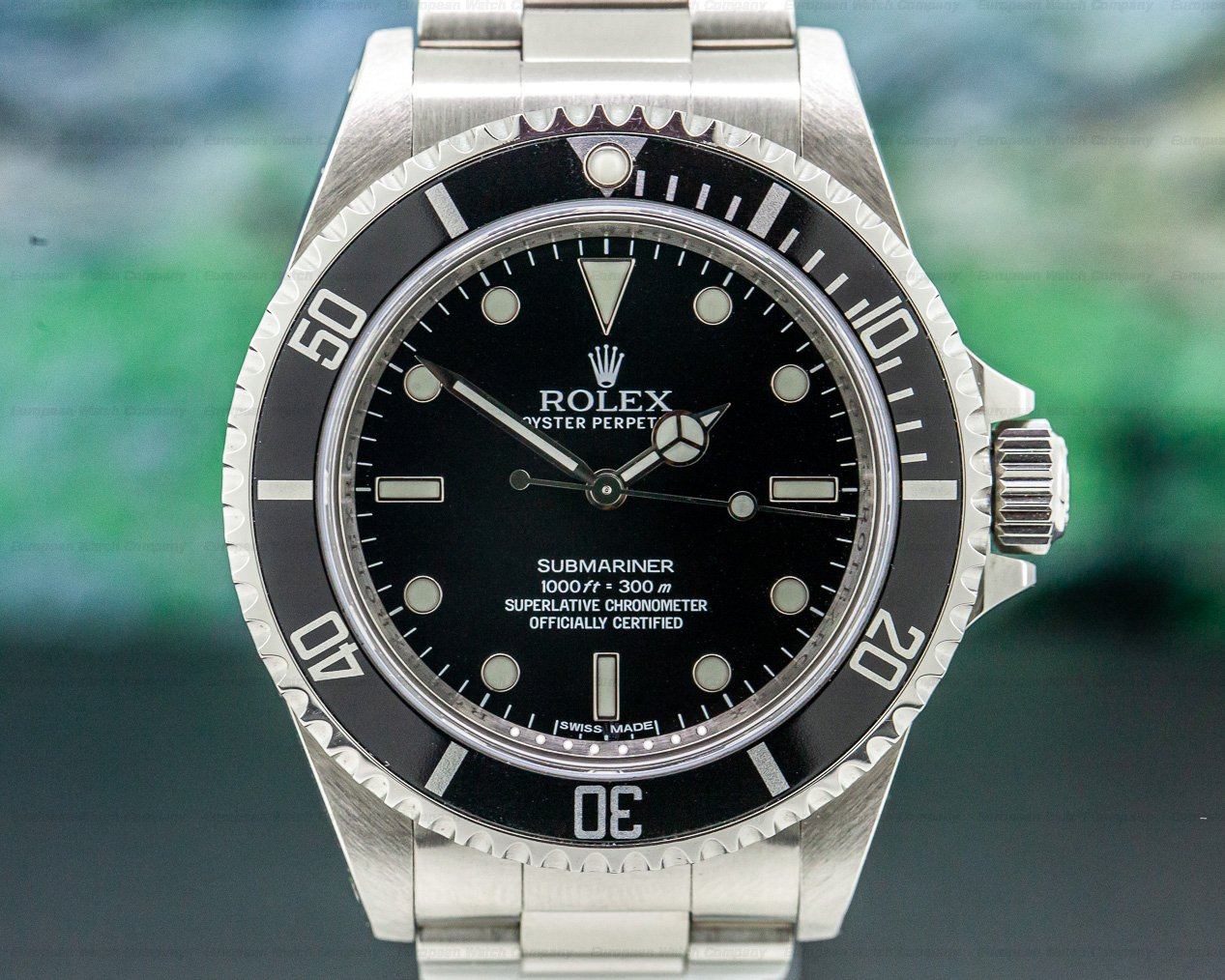 Rolex 14060 Submariner No Date SS 4 Line / Full Set