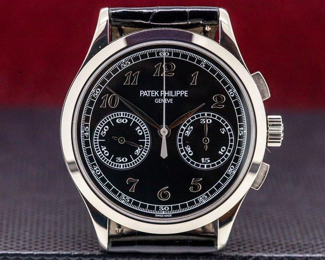 Patek Philippe 5170G-010 Chronograph 18K White Gold Black Dial