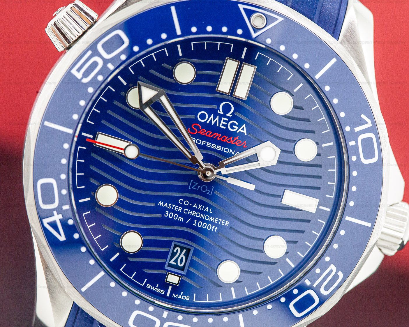 31784 omega seamaster diver 300m co axial master chro for Omega diver