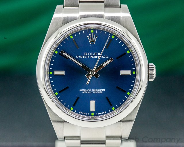 Rolex 114300 Oyster Perpetual SS Blue Dial