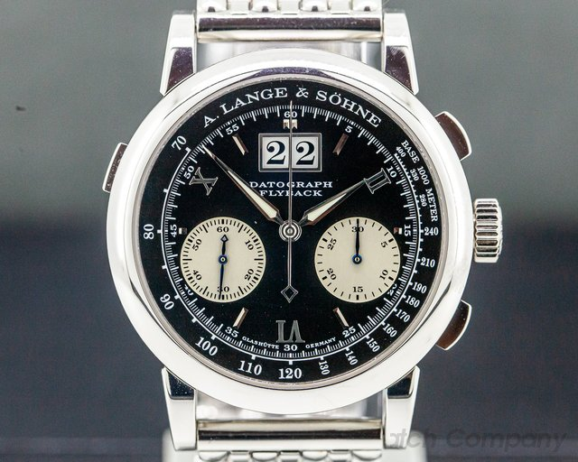 A. Lange and Sohne 453.135 453.135 Platinum Flyback Datograph ORIGINAL PLATINUM BRACELET
