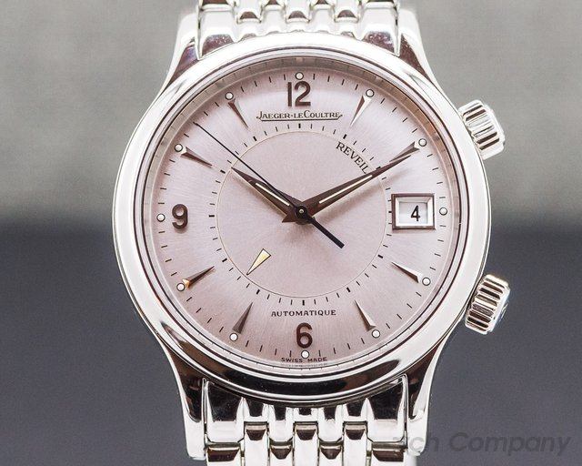 Jaeger LeCoultre 141.8.97 Master Reveil Silver Dial SS / SS