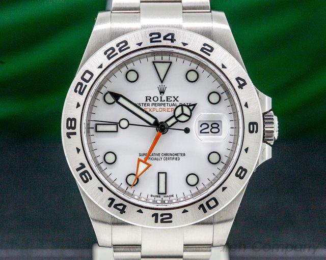 Rolex 216570 Explorer II White Dial SS / SS Unworn