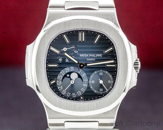 Patek Philippe 5712/1A-001 Jumbo Nautilus Moonphase Power Reserve SS UNPOLISHED