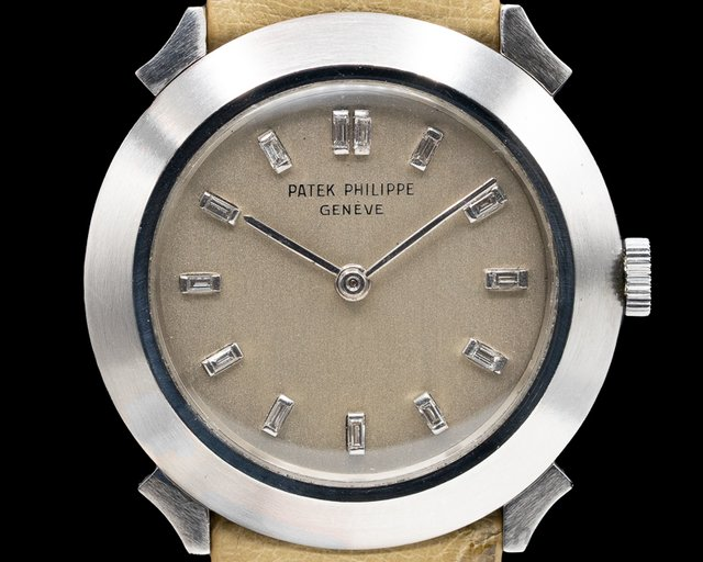 Patek Philippe  Custom Platinum Case Diamond Markers Manual Wind 31MM