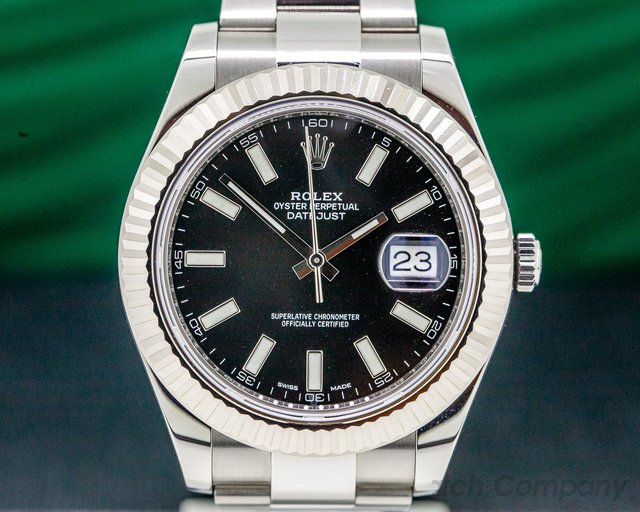 Rolex 116334 Datejust II Black Stick Dial SS
