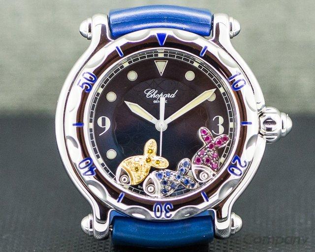 Chopard 8347/8 Happy Fish Blue SS 38MM