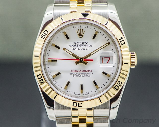 Rolex 116263 Datejust Turn-O-Graph 18K Yellow / SS