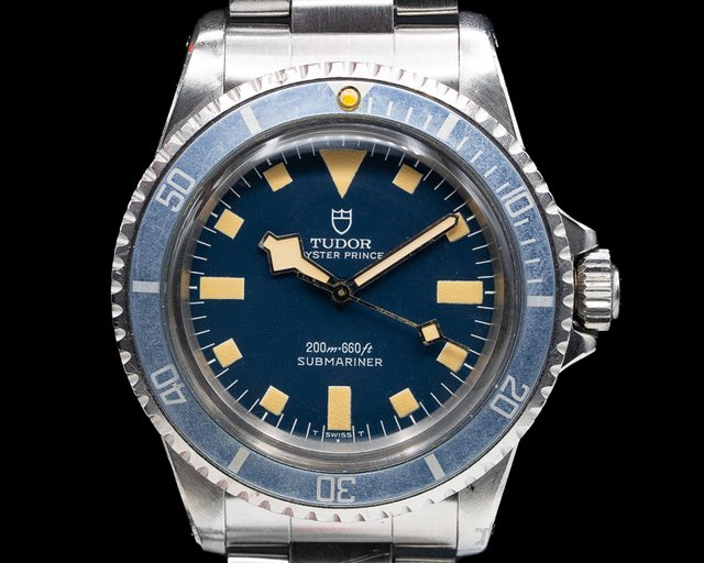 "Tudor 9401/0 Vintage Submariner Matte Blue Dial No Date ""Snowflake"" WOW"