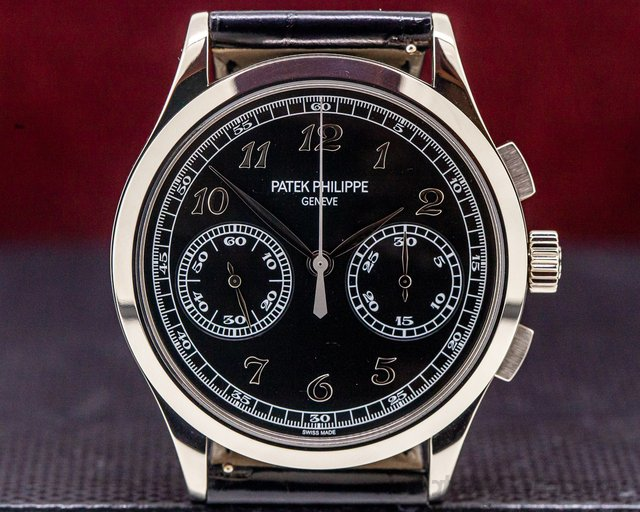 Patek Philippe 5170G-010 Chronograph 18K White Gold Black Dial