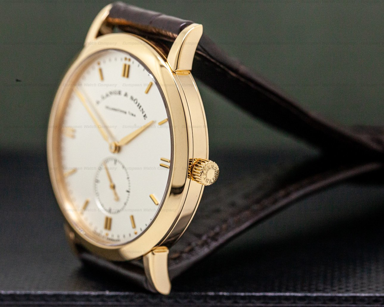 A. Lange and Sohne 215.032 Saxonia Rose Gold Manual Wind 37MM