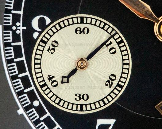 A. Lange and Sohne 401.031 1815 Flyback Chronograph Black Dial 18K Rose Gold