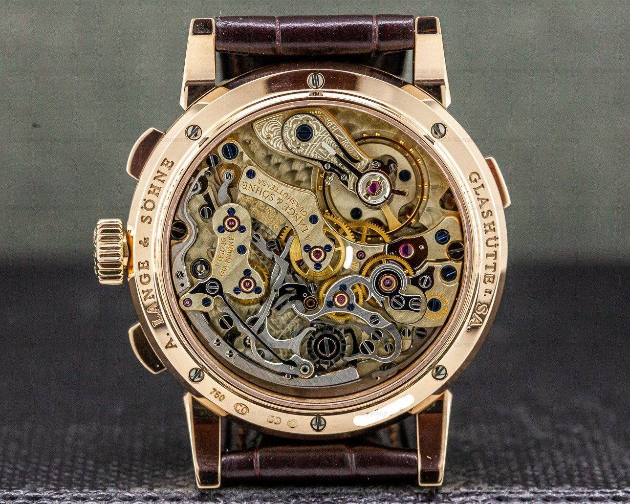 A. Lange and Sohne 403.032 Datograph 18K Rose Gold
