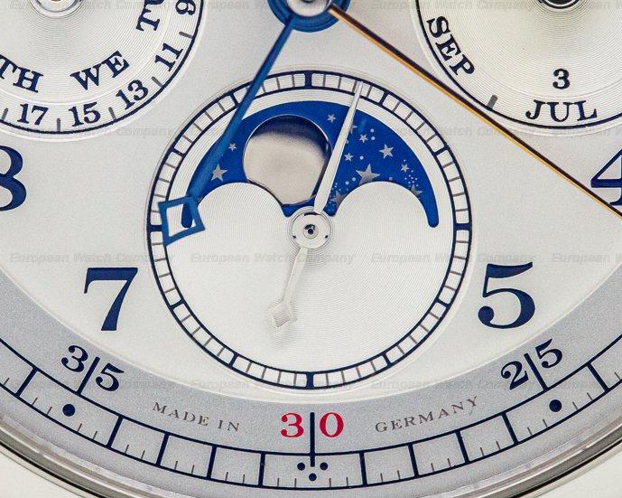 A. Lange and Sohne 421.025 1815 Rattrapante Perpetual Calendar Platinum FULL SET