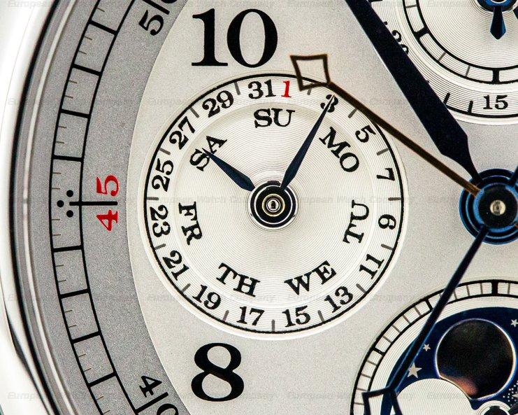 A. Lange and Sohne 421.025 1815 Rattrapante Perpetual Calendar Platinum