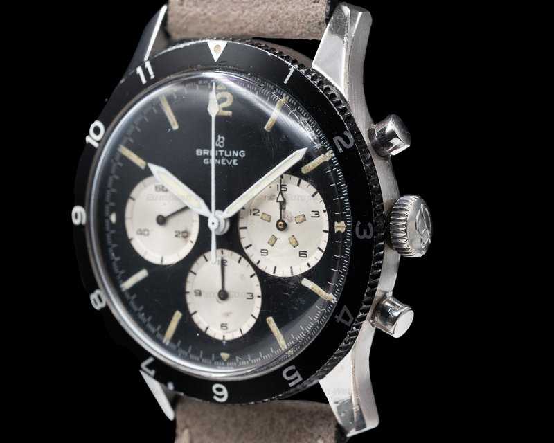 "Breitling 765 CP ""Jean Claude Killy"" Co-Pilot Watch SS"