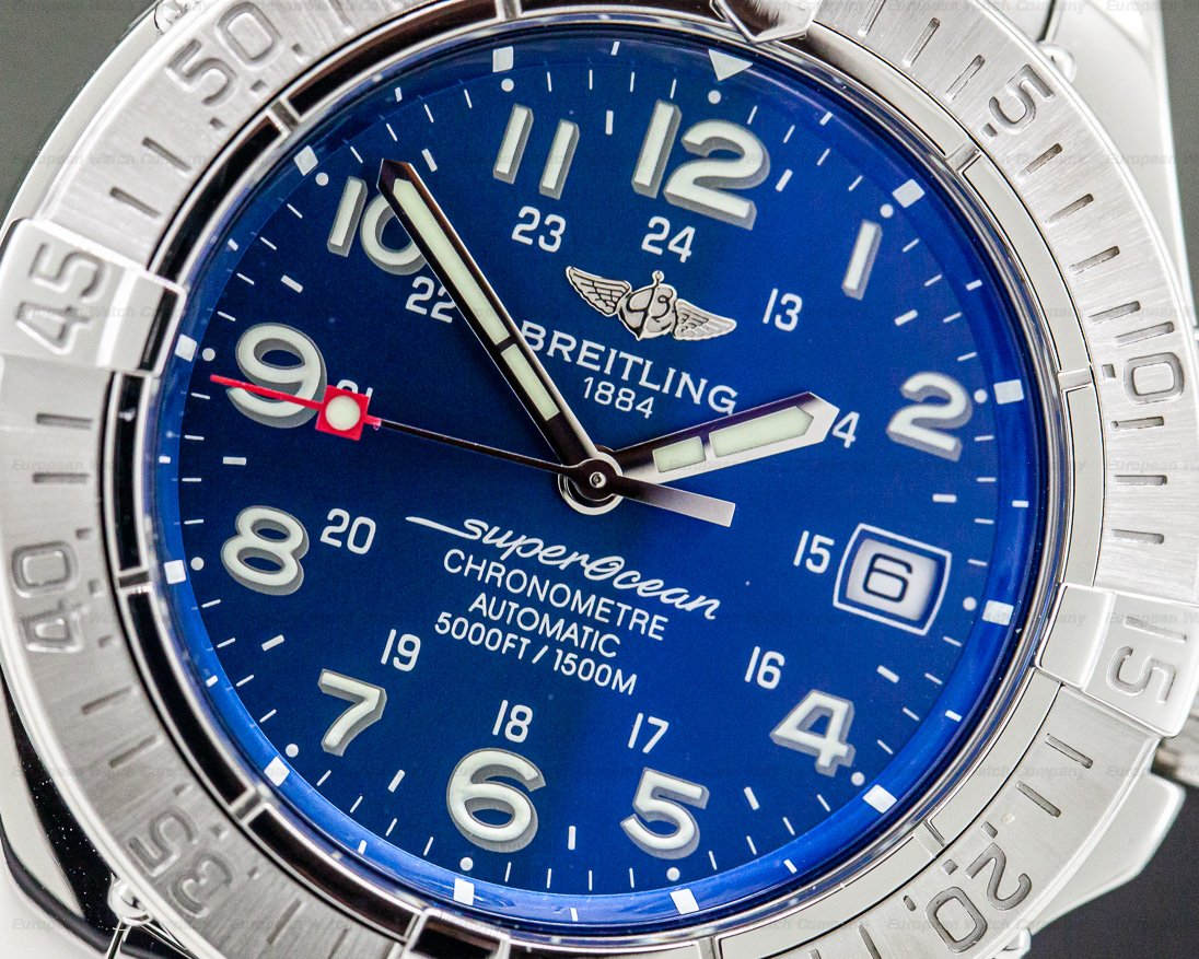 Breitling A1736011 Super Ocean SS Blue