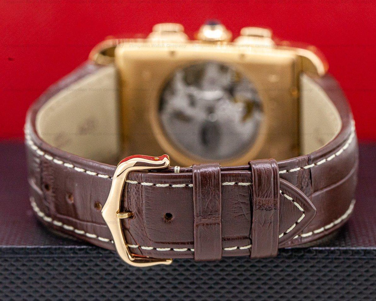 Cartier W2609356 Tank Americaine XL Chronograph 18K Rose Gold
