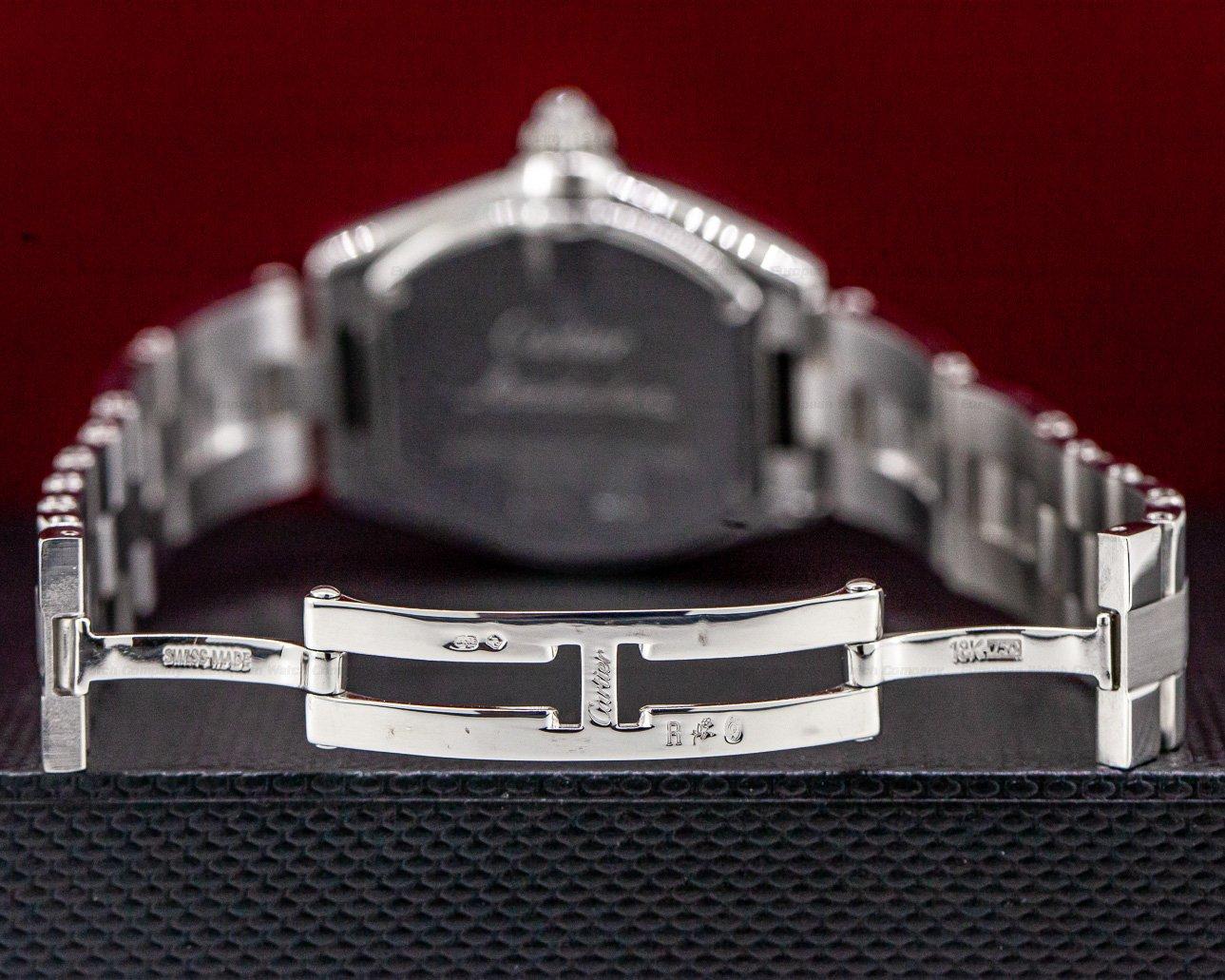 Cartier WE5002X2 Roadster Ladies 18K White Gold Diamond Bezel