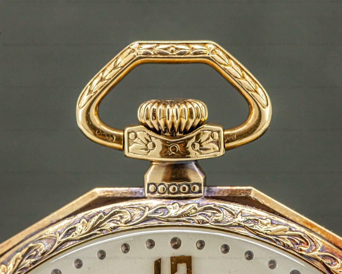 IWC Vintage Pocket Watch 14K Yellow Gold 49MM