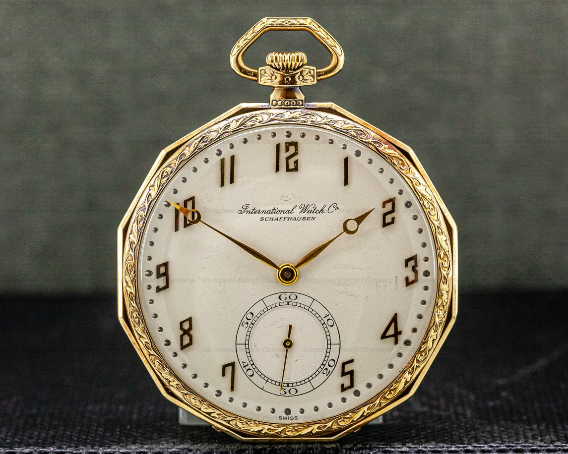 IWC Vintage Pocket Watch 14K Yellow Gold 49MM