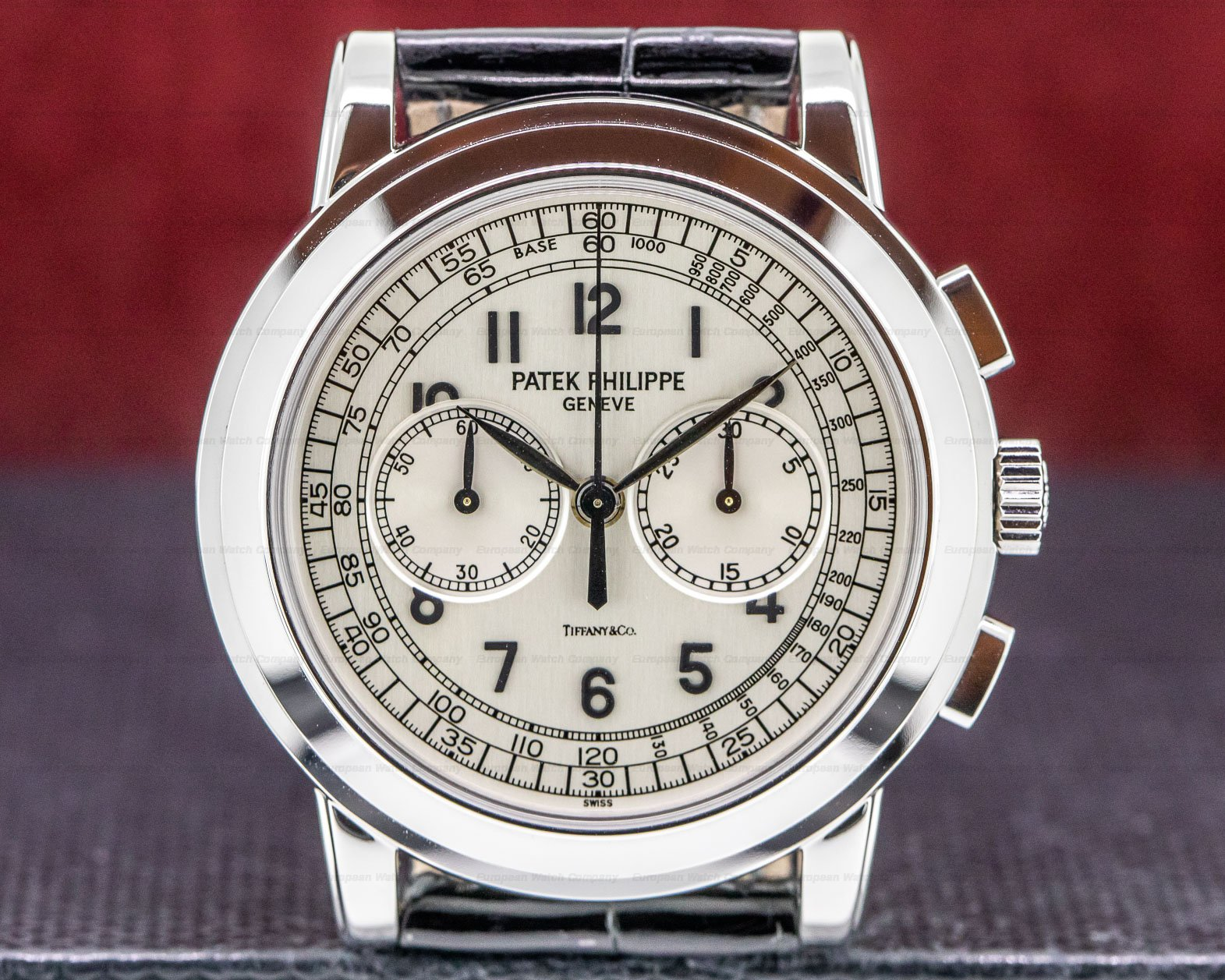 Patek Philippe 5070G Tiffany & Co 5070 TIFFANY & CO White Gold Chronograph UNWORN