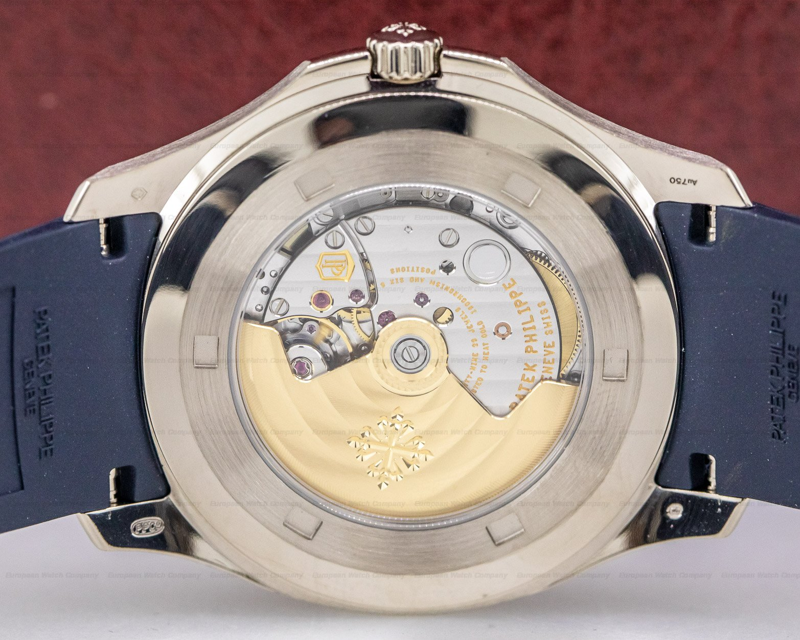 Patek Philippe 5168G-001 Aquanaut 18K White Gold / Blue Dial