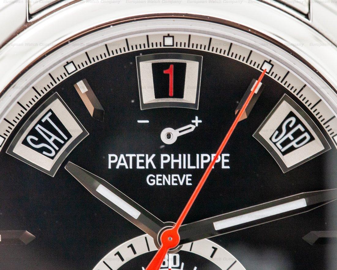 Patek Philippe 5960/1A-010 Annual Calendar Black Dial Chronograph SS DISCONTINUED UNWORN