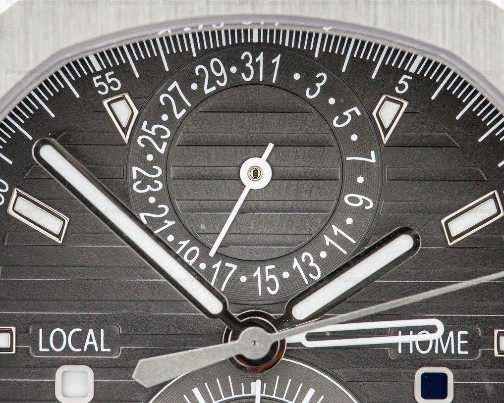 Patek Philippe 5990/1A-001 Nautilus Travel Time Chronograph Grey Dial SS / SS