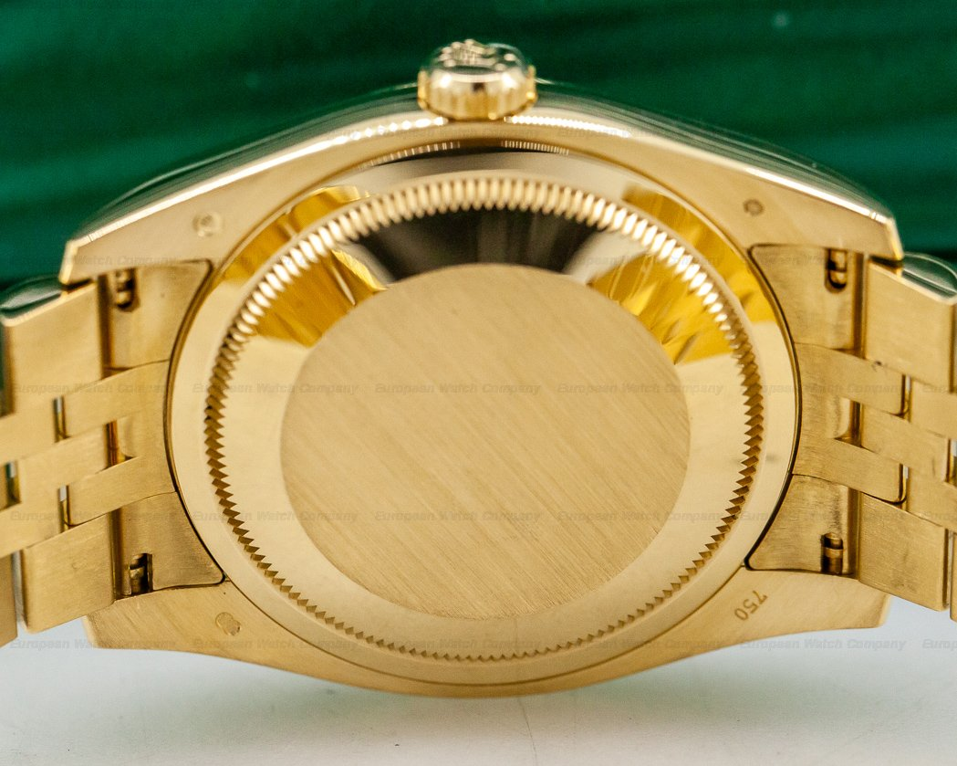 Rolex 116238 Datejust 36 18K Yellow Gold Jubilee / Black Stick Dial