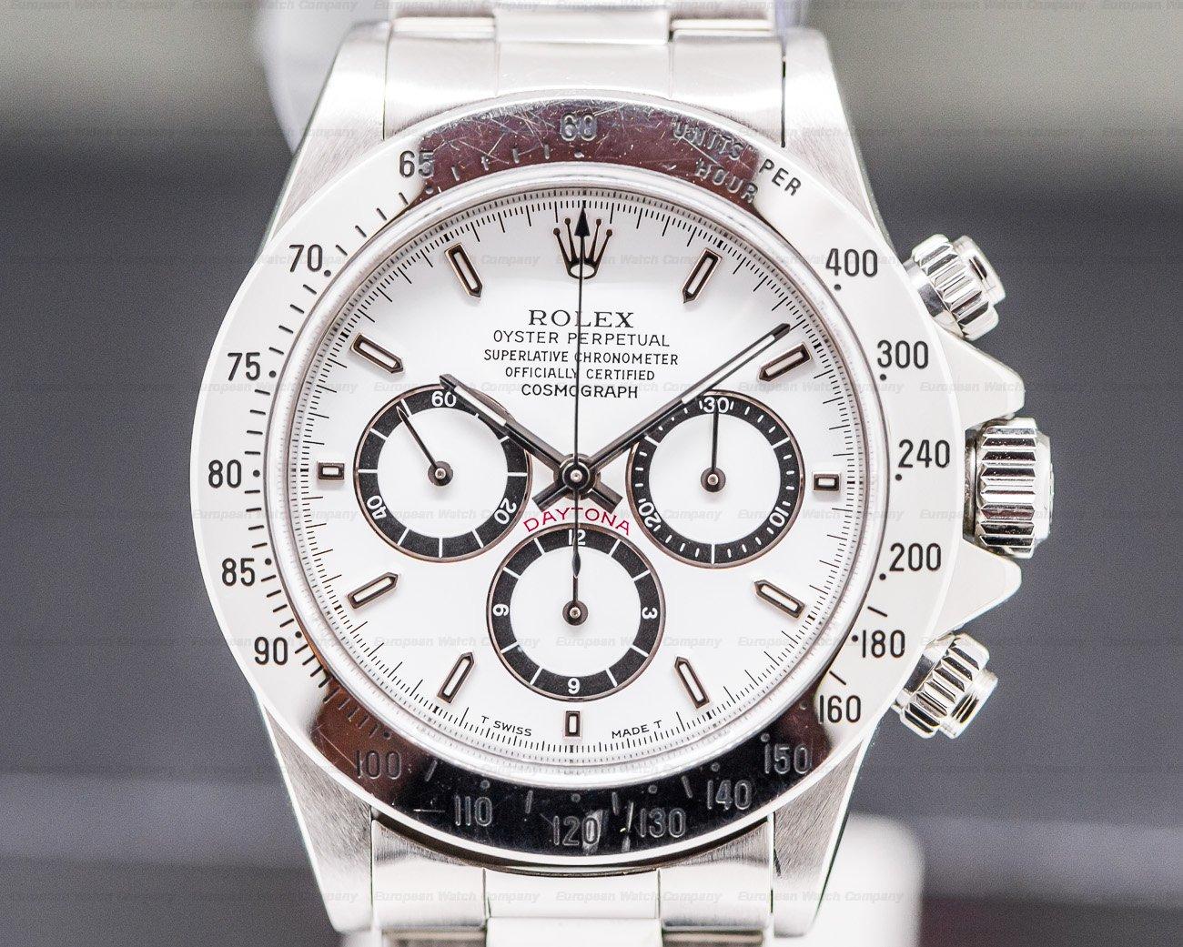 Rolex 16520 Daytona Zenith Movement White Dial SS