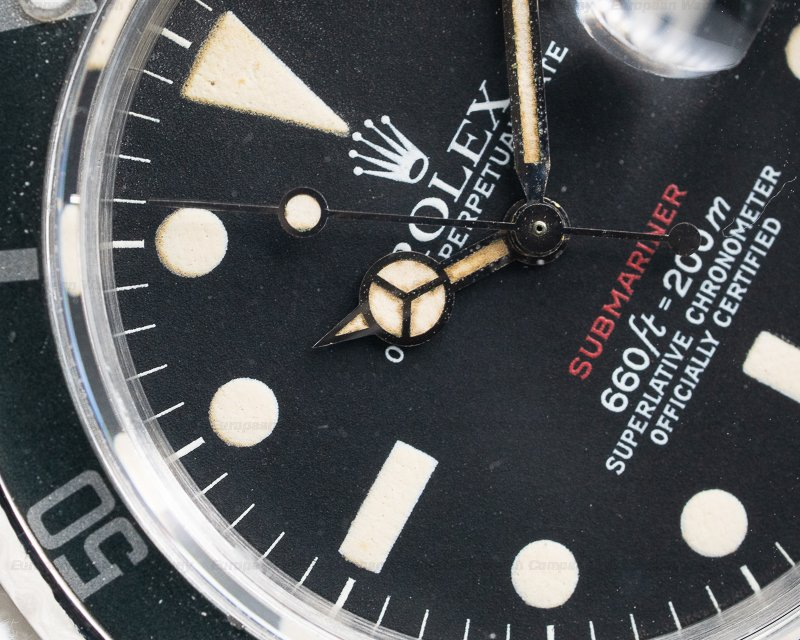 Rolex 1680 Vintage RED Submariner MK VI Circa 1974
