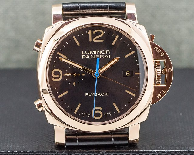 Panerai PAM000525 Luminor 1950 Flyback 18K Rose Gold