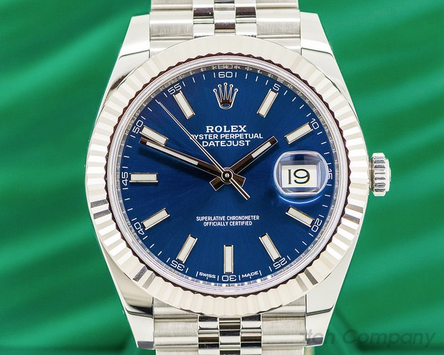 Rolex 126334 Datejust 41 Blue Stick Dial SS / SS