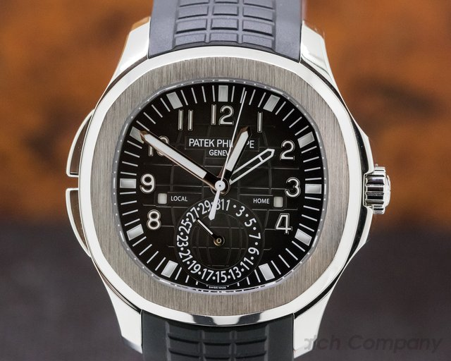 Patek Philippe 5164A-001 Aquanaut Travel Time SS / Rubber