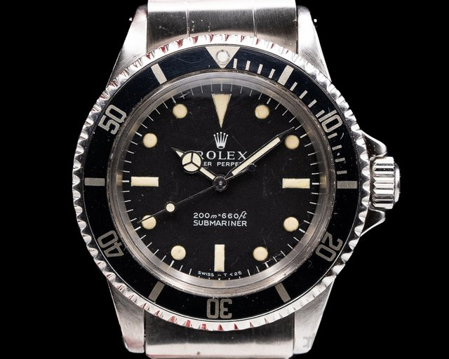 "Rolex 5513 Vintage Submariner 5513 ""Meters First"" SS Rivet Bracelet c. 1967"