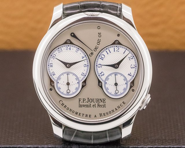 F. P. Journe Chronometre Resonance Fi Chronometre Resonance Platinum Silver Dial 40MM FINAL EDITION