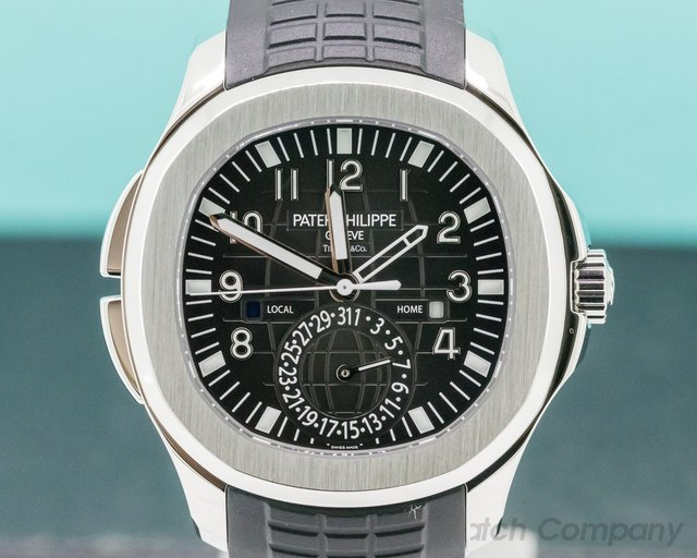 """Patek Philippe 5164A-001 Aquanaut Travel Time """"TIFFANY & CO""""  SS / Rubber"""
