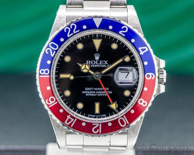 Rolex 16750 GMT Master SS / SS Pepsi Bezel 1989 FULL SET