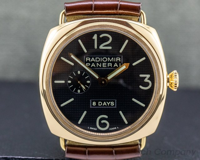 Panerai PAM00197 Radiomir 8 Days 18k Rose Gold