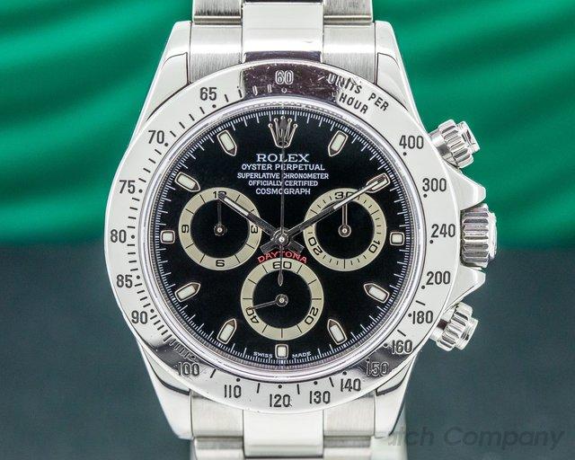 Rolex 116520 Daytona Black Dial SS FULL SET