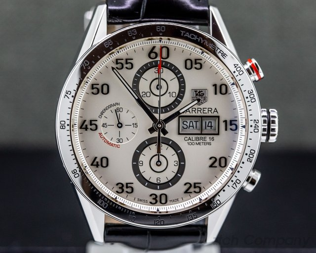 TAG Heuer CV2A11.FC6235 Carrera Day Date Chronograph White Dial