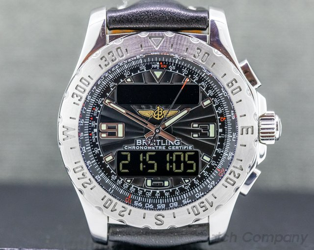 Breitling A7836323/B822 Airwolf Black Dial SS / Leather