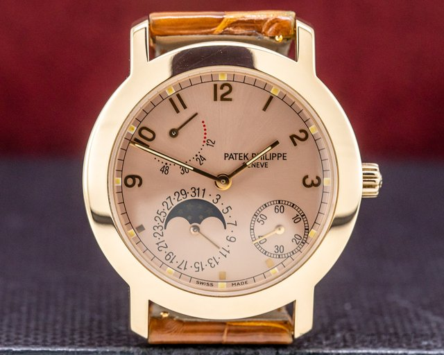 Patek Philippe 5055R Moon Phase Power Reserve Salmon Dial 18K Rose Gold