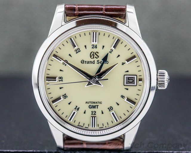 Grand Seiko SBGM221 Grand Seiko Automatic SBGM221 SS / Cream Dial GMT