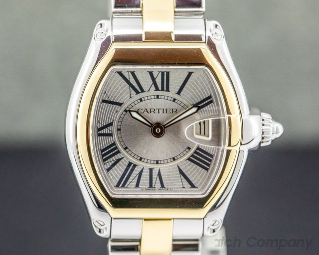 Cartier W62026Y4 Roadster Steel and 18K Yellow Gold