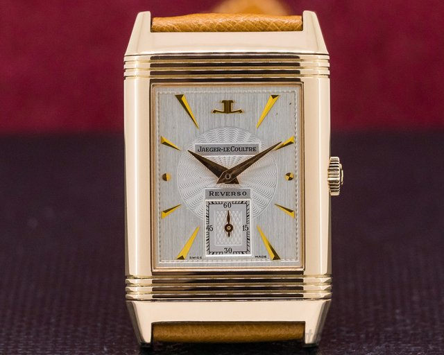 Jaeger LeCoultre 270.2.62 Reverso Art Deco 18K Rose Gold / Deployant Buckle