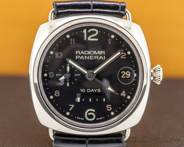 "Panerai PAM00496 Radiomir 10 Days GMT Automatic ""Oro Bianco"" 45MM White Gold LIMITED"
